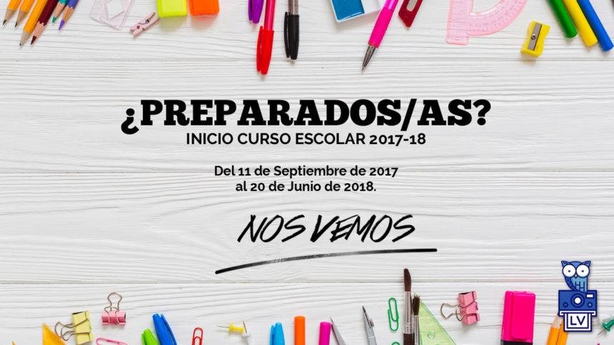 El próximo día 11 de septiembre se inicia al curso 2017-18.