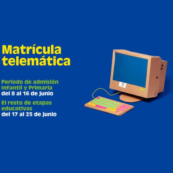 La admisión del nuevo alumnado para el próximo curso 2020-21 se hará de forma Telemática